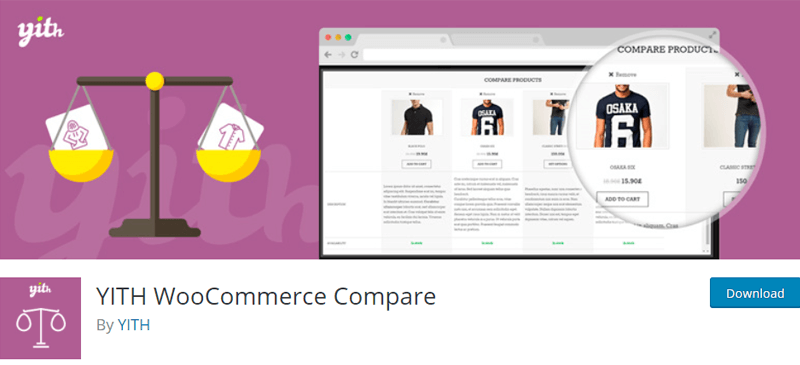 YITH WooCommerce Compare Addon