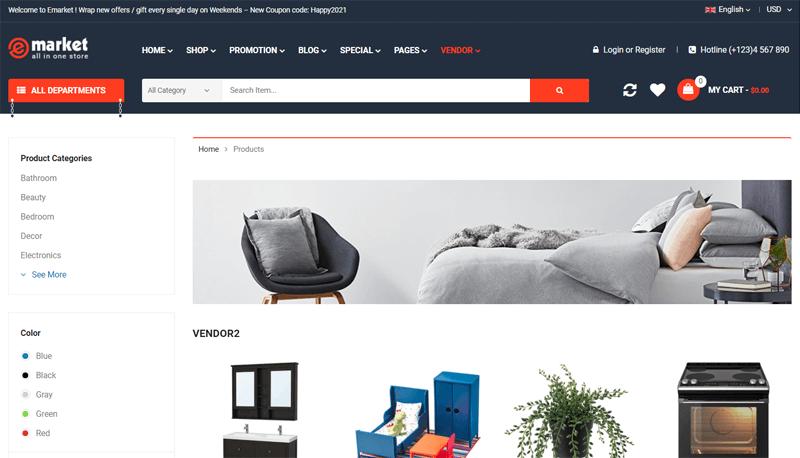 eMarket Multi-vendor WordPress Theme
