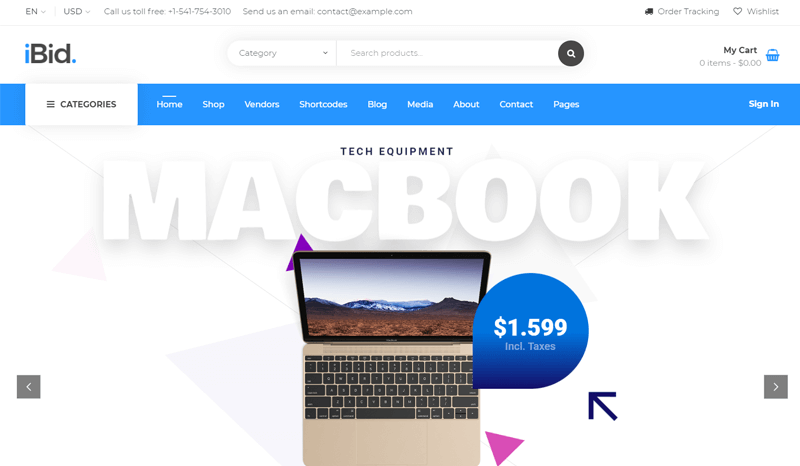 iBid Marketplace WordPress Theme