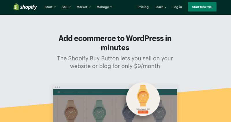 Shopify Buy Button eCommerce Plugin for WordPress
