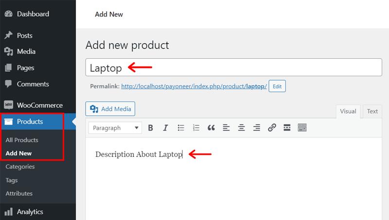 Adding Product on WooCommerce WordPress