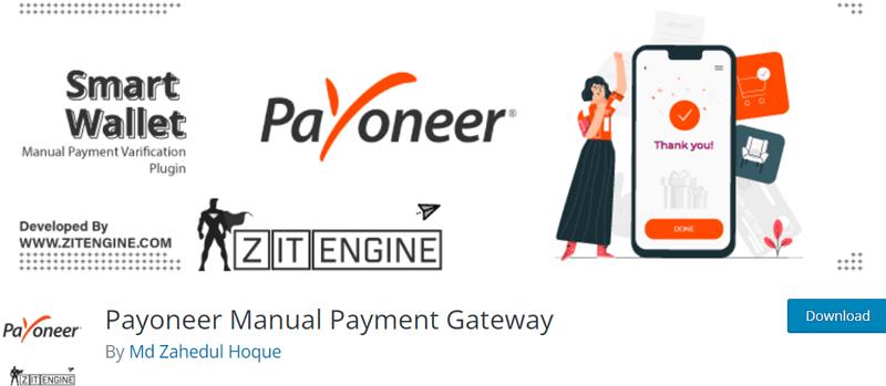 Payoneer Manual Payment Gateway