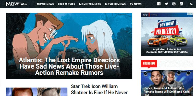 MovieWeb a Popular Movie Blog