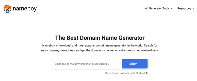 Nameboy Domain Name Generator