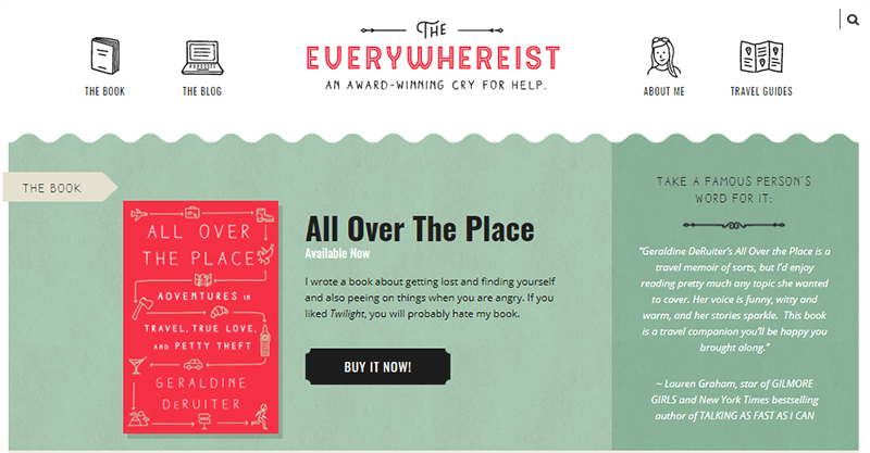 The Everywhereist a popular Personal Blog