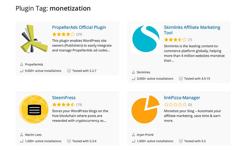 WordPress Plugins for Monetization