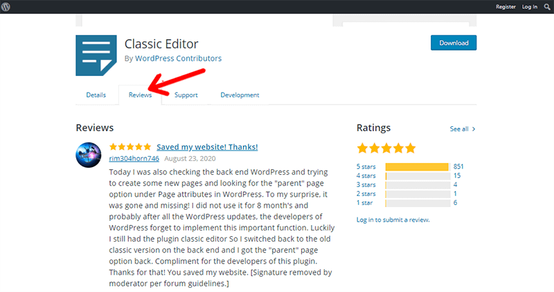 Review of Classic editor plugin