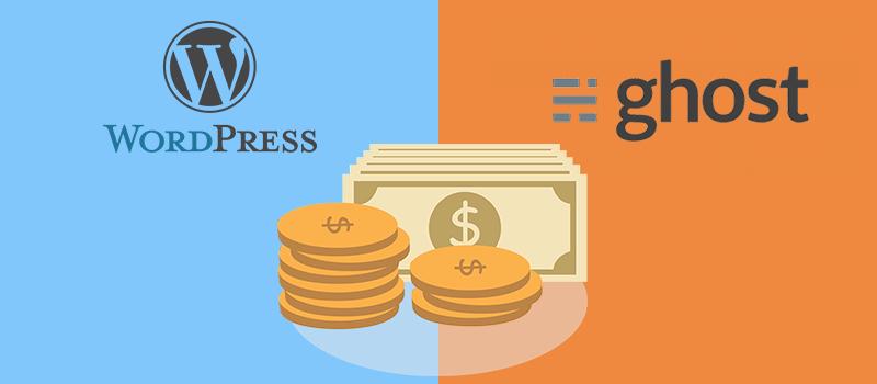 WordPress vs Ghost Pricing