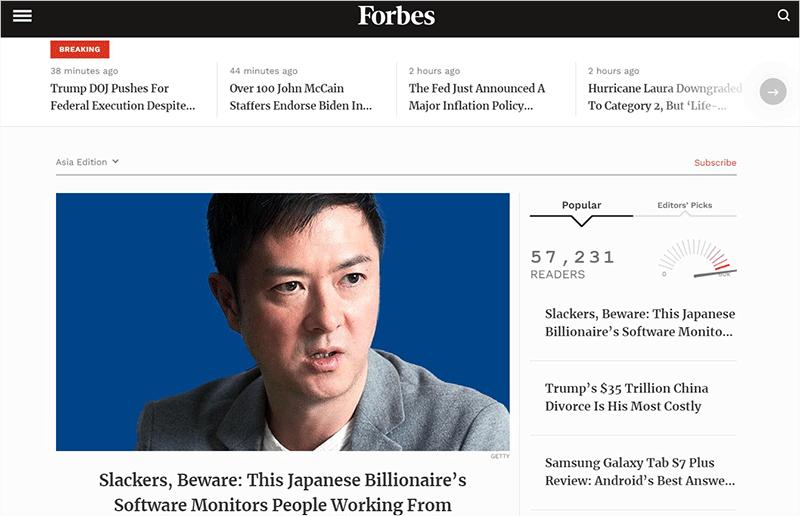 Forbes Website