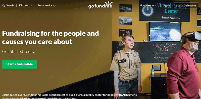 GoFundMe Crowd Funding Site