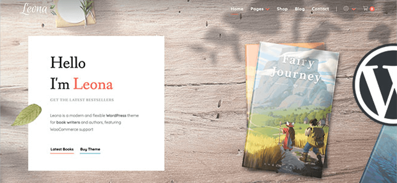 Leona WordPress Theme for Author