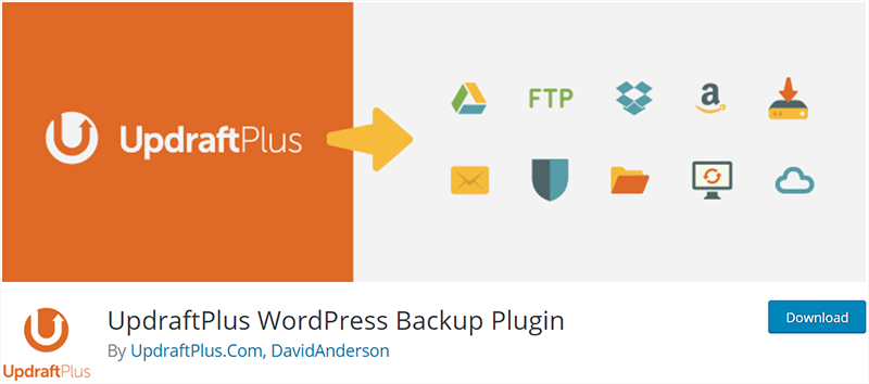 UpdraftPlus Popular WordPress Plugin
