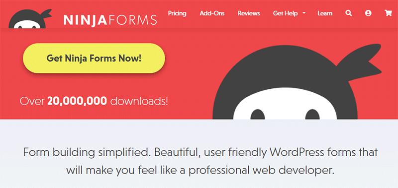 Ninja Forms Homepage