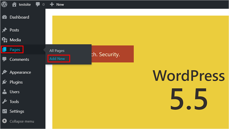 Adding Pages in WordPress