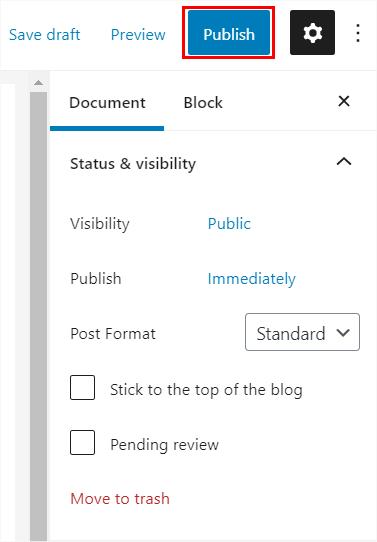 Publish the Post