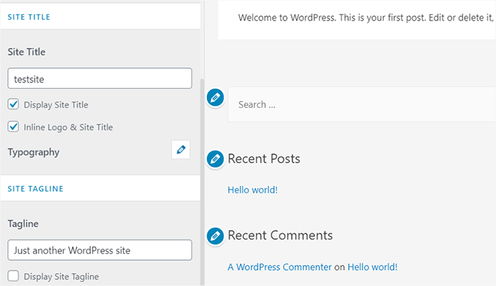 Site Title and Tagline in WordPress