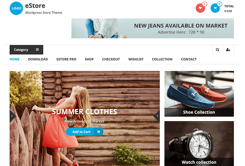 eStore WooCommerce Theme