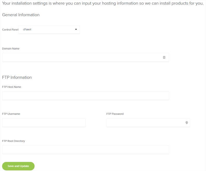 Mojo Marketplace Hosting Information