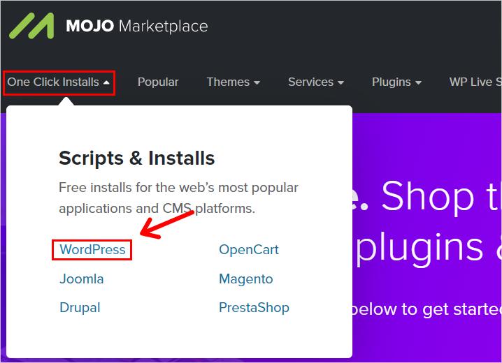 Mojo Marketplace WordPress Installation