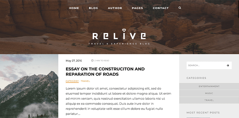 Relive WordPress Theme