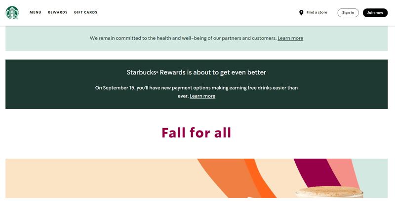 Starbucks Brochure Website