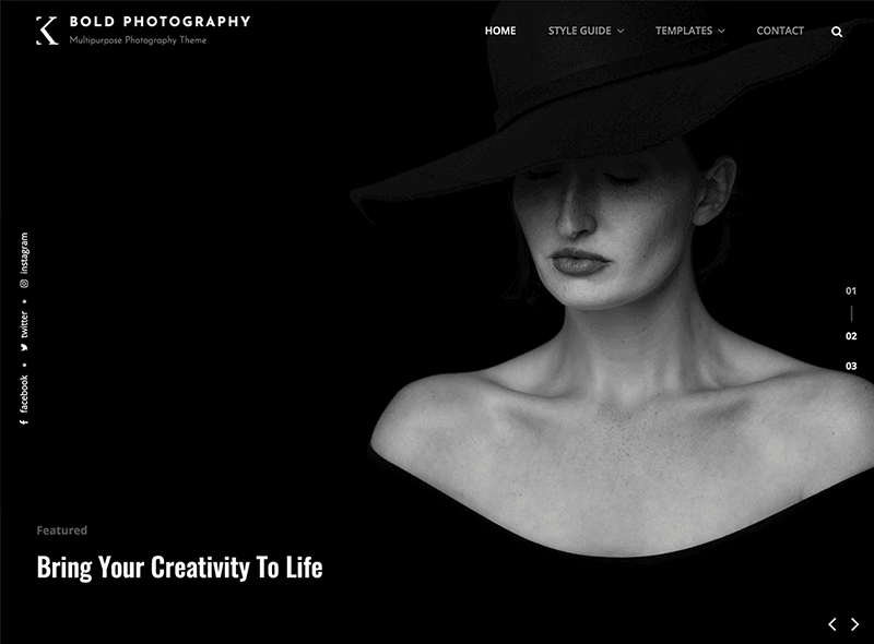 Bold Photography WordPress Theme