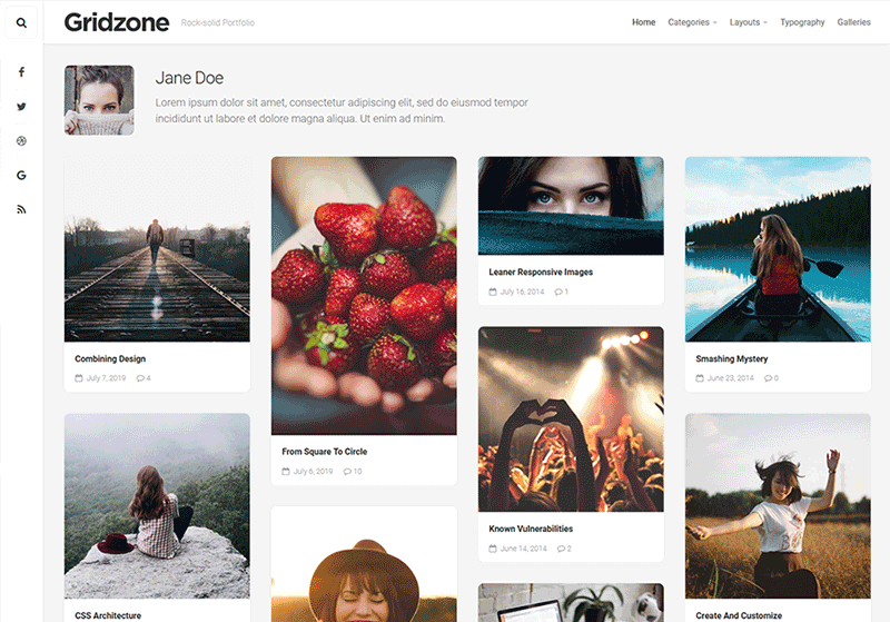 Gridzone WordPress Theme