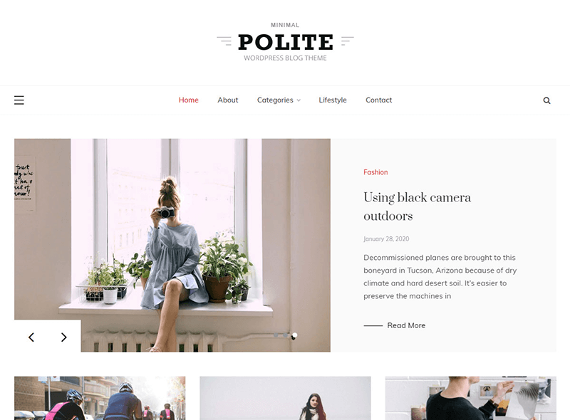 Polite WordPress Theme