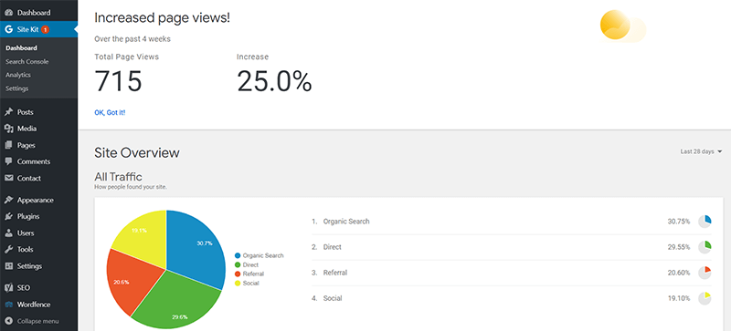 Site Kit by Google Analytics Plugin