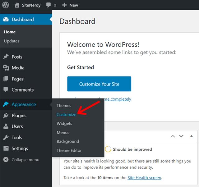 Add Widget from Customize