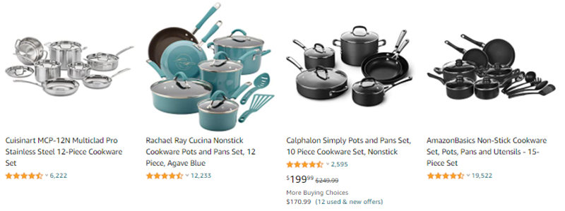 Cookware Products for Affiliate Marketing
