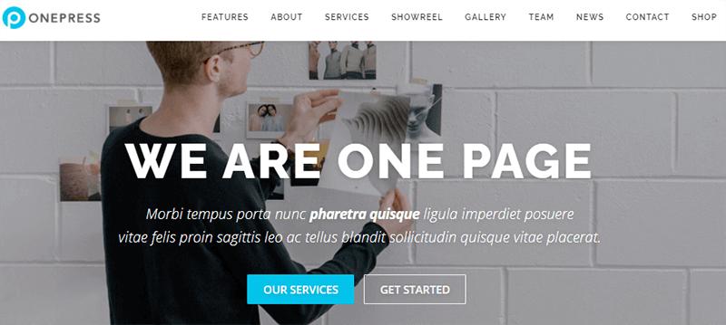 Demo Site of OnePress Theme