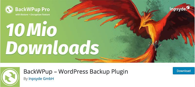 BackWPup backup Plugin