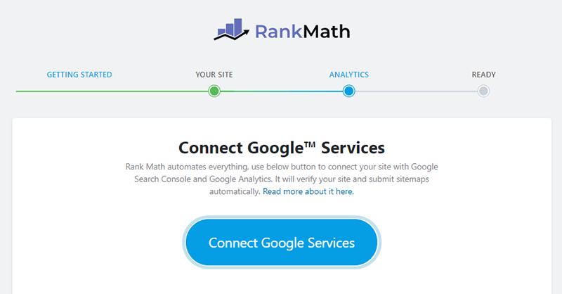Rank Math - Connect Google Services