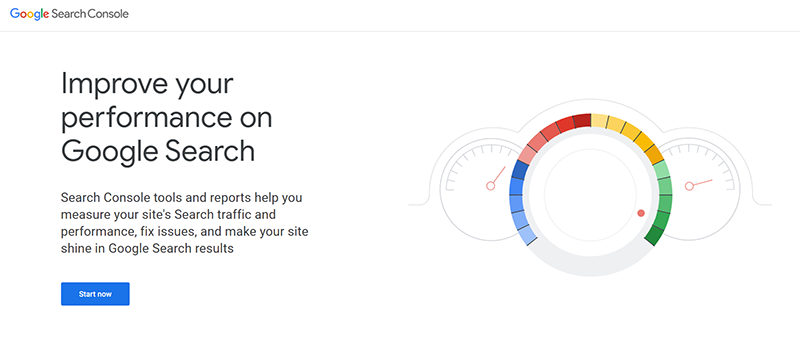 Google Search Console Tool Home Page