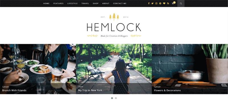 Hemlock Premium Blog Theme