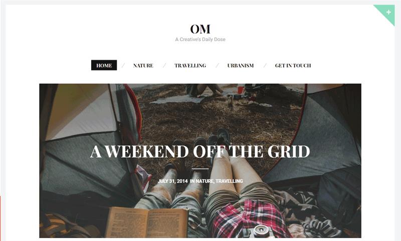 Om Blog Theme