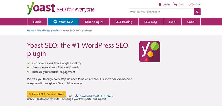 Yoast SEO Home Page