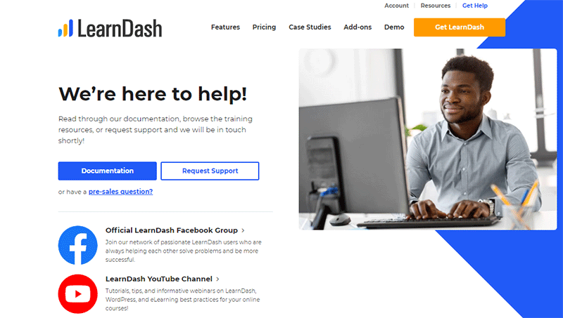 LearnDash Support Options